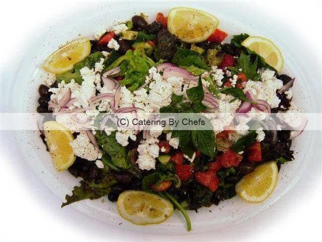 Greek salad with Greek feta cheese